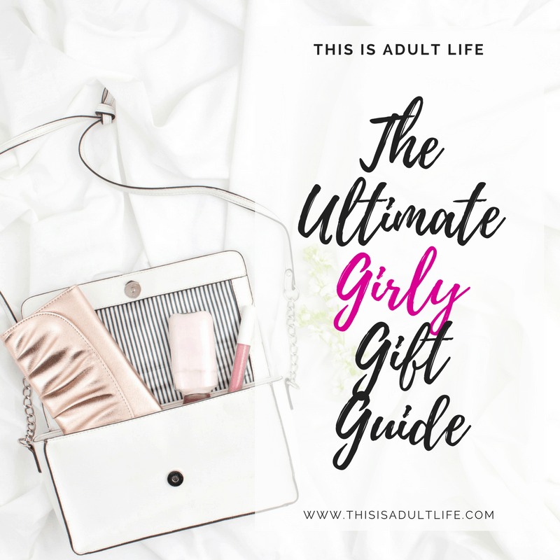 Rose gold handbag and accessories as gifts