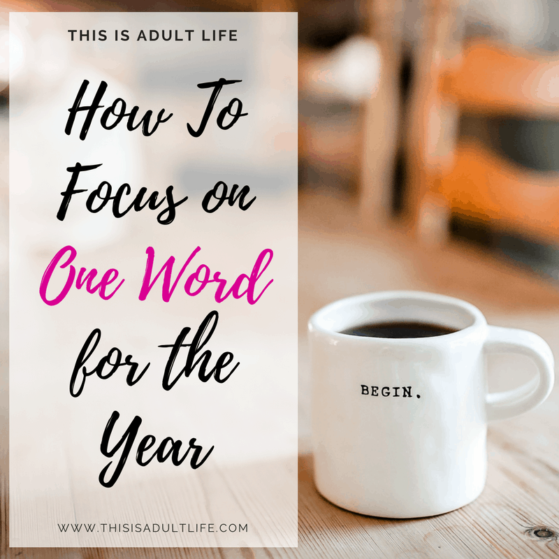 Focus on one word for the new year to motivate you