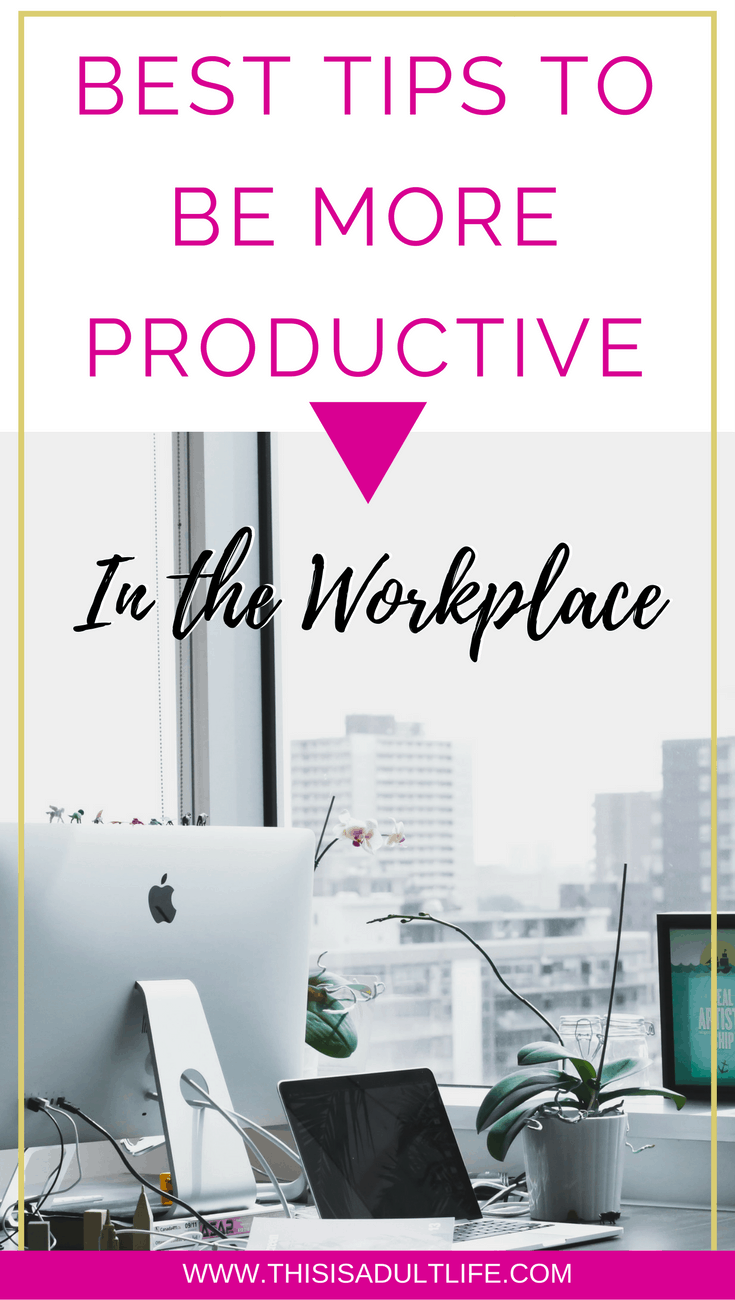 How to be productive at work