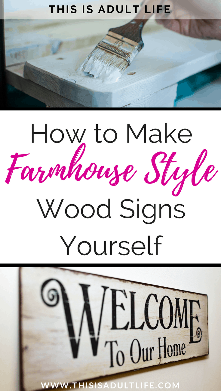 How to Make Farmhouse Wood Sign Yourself