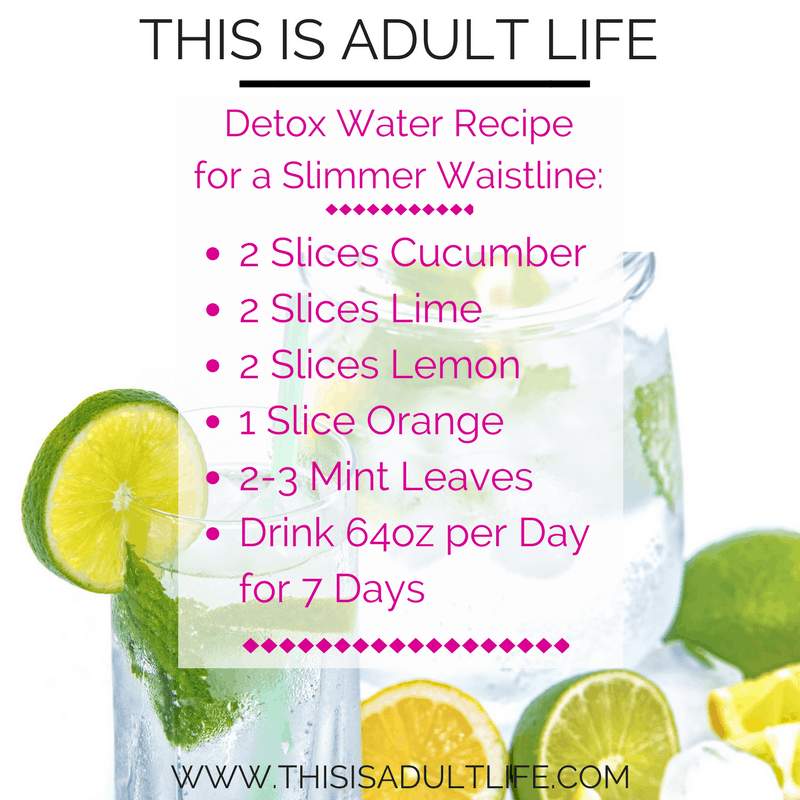 Detox Water Recipe for a Slimmer Waistline