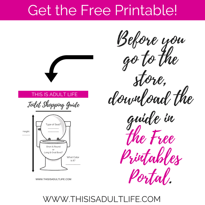 Free Printable before you shop for a toilet