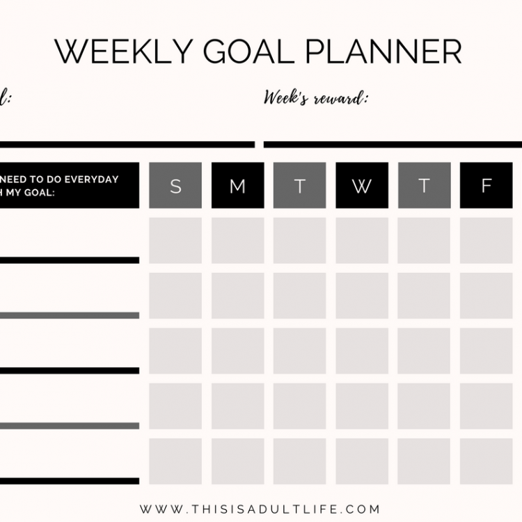 image relating to Weekly Goal Sheet identified as purpose sheet Archives - This is Grownup Daily life