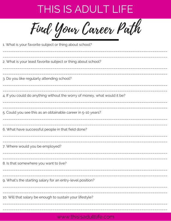 Choose Your Career Path Guide