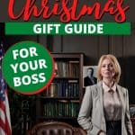 Gift guide showing picture of boss in an executive office