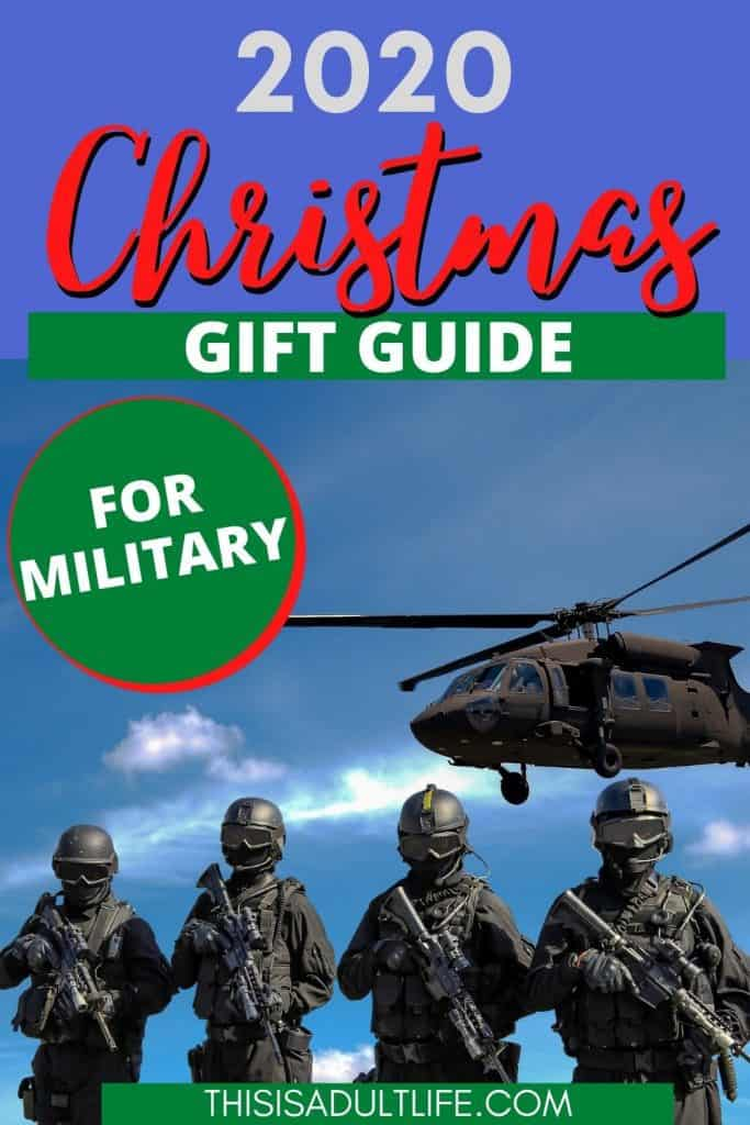 Gift guide showing soldiers and helicopter