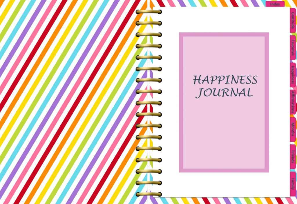 mockup of happiness journal page
